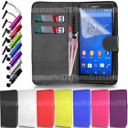 Wallet Leather Case Flip Cover Book For Sony Xperia E4