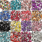 2000pcs 18 Colors Acryl Rhinestone Crystal Half Round Flatback Beads Gems 3-5mm
