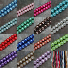Wholesale 23 Colors Loose Round Glass Pearl Spacer Beads For Jewelry 4/6/8/10mm