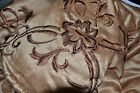 JCP Home MADRID EMBROIDERED 4 PIECE COMFORTER SET QUEEN GOLD Retail $250