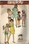 7462 Simplicity Vintage Sewing Pattern Girls Dress Top Shirts Scarf Jiffy Easy