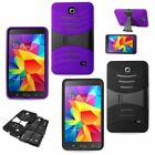 """REIKO Hybrid Case Rugged Stand Shockproof Cover for Samsung Galaxy Tab 4 7 7.0"""""""