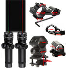 Tactical Green/Red Laser Sight/Mounts with Remote Switch for Rifle Hunting