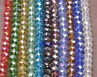 Faceted Crystal Rondelle Loose spacer bead Charm Glass Beads Jewelry 6x8mm