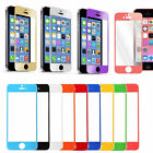 Colorful Real Tempered Glass Film Screen Protector for iPhone 4 4S 5 5S 5C