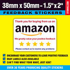 Colour Ebay / Amazon Packing Labels Stickers - Thanks For Buying - Free Postage