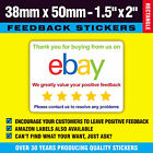 Colour Ebay / Amazon Packing Labels Stickers Seals - 'Thanks For Buying'