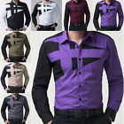 Designer 2015 Stylish Mens Long Sleeve Casual Business Formal Dress Shirt Tops