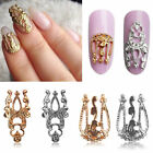 Charm 10pcs 3D Hollow Nail Art Alloy Tips Decoration Jewelry Glitter Rhinestone