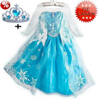 Mädchen Kostüme Kleid Frozen Princess Elsa Anna Dress Party Costume Cosplay