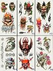 NEW Temporary Tattoos Body Art Large Transfer Snake & Skull Water Proof Tattoo