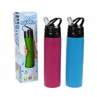 ECO SQUEEZE DRINKS SPORTS GYM WATER BOTTLE SILICONE NON SPILL HYDRATION HIKING