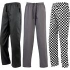 Unisex Premier Essential Chef Kitchen Cook Pull On Up Trouser Bottom Pant