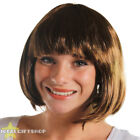 BROWN BOB WIG SHORT FANCY DRESS FLAPPER FASHION BABE HAIRPIECE 1920'S HAIR GIRLS