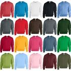 Unisex Adult Gildan Heavy Blend Crew Neck Plain Polyester Cotton Sweatshirt Top