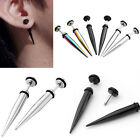 Unisex Mens Stainless Steel Fake Cheater Taper Stretcher Ear Plugs Earring Studs