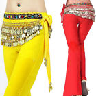 HOT Sexy Belly Dance 338 Gold Coins Ethnic Style Diamond Waist Chain 3 Colors