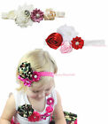 Elegant Garden Ivory Elegant Wedding Flower Rose Girl Clip Headband Accessory