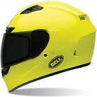 BELL QUALIFIER DLX HIGH-VIS FLUO YELLOW MOTORCYCLE HELMET + TRANSISTION VISOR