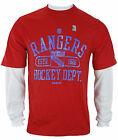 Reebok NHL Hockey Men's New York Rangers Novelty Shirt - Red / White