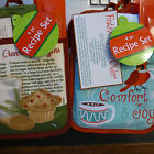4 pc recipe kitchen set - holiday baking  - 2 options - you pick free ship - N