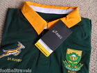 S M L XL XXL 3XL ASICS SPRINGBOKS SOUTH AFRICA L/S RUGBY JERSEY SHIRT TAGS 2015