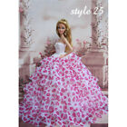 Barbie Doll Clothes Lovely Fancy Gown Wedding Evening Party Ball Dress 27 Styles