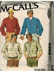 6306 Vintage McCalls Sewing Pattern Mens Buttoned Front Shirt Western Style OOP