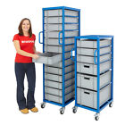Euro Container Trolley Warehouse Shelving Storage Steel - 5 Box Configurations