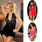Lingerie Women Babydoll Dress 3 Colors One Size Sexy G String