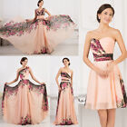VINTAGE Chinese FLORAL Formal Evening Prom Party Bridesmaid Dress Cocktail Dress