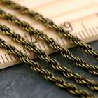 12ft Antique Bronze Plated Vintage Style Rope Chain jewelry making chains c202