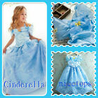 NWT Kids Girl Cinderella Princess Costume Girls Party Dresses SIZE 4 5 6 7 8 9T
