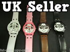 FASION LADIES GIRLS UNISEX PANDA NERD GLASSES FAUX LEATHER WRIST WATCH SELLER