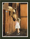 Little Visitor by Lesley Girl With Her Horse Framed Art Print Wall D�cor Picture