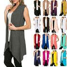 Внешний вид - Women Open Vest Tunic Top Shawl Collar Draped Sleeveless Cardigan S M L XL USA