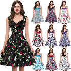 *50S 60s 70s ROCKABILLY DRESS* Vintage Style Retro Swing Pinup Dance Party Dress