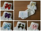 L@@K! Cute Girls Ivory Frilly Socks! Rose Bow Detail Various Colours & Sz