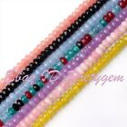 2x4mm Rondelle Faceted Jade Gemstone Spacer Beads For Jewelry Making Strand 15""