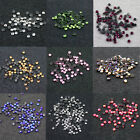 144 x HOT FIX 4mm FLATBACK ROUND IRON ON *10 COLOURS RHINESTONE DIAMANTE SS16