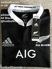 M L XL XXL ADIDAS ALL BLACKS LONG SLEEVE RUGBY SHIRT jersey NEW ZEALAND Climalit