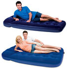 SINGLE FLOCKED BESTWAY AIRBED AIR BED CAMPING MATTRESS INFLATABLE DOUBLE