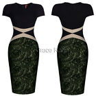 Sexy Fashion 2015 Womens Lace Bodycon Cocktail Party Evening Tunic Pencil Dress