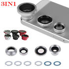 3 in 1 Fish Eye+Wide Angle+Macro Lens Camera Kit For Smart Cellphone iphone 6 5S