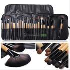 Pro 24Pcs Superior Soft Cosmetic Makeup Brush Set Brushes Kit + Pouch Bag Case