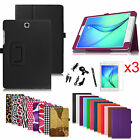 Folio Leather Stand Cover Case for Samsung Galaxy Tab A 9.7-inch Tablet Bundle