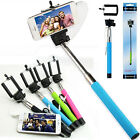 Extendable Wired Remote Shutter Handheld Selfie Stick Monopod For Apple Android