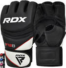 RDX Leather Gel Tech MMA UFC Grappling Gloves Fight Boxing Punch Bag Training H