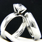 2.04 CT Solitaire CZ Engagement 316 L Stainless Steel Wedding Rings Set Size 6