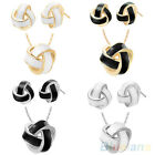 HOT SELLING! WOMENS PLATED PENDANT NECKLACE EARRINGS FASHION PARTY JEWELRY SETS